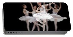 Portable Battery Charger featuring the photograph Ballet Dancer Dance Photography Long Exposure by Dimitar Hristov
