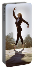 Ballet Dancer In Philadelphia In Front Of Museum Of Arts Portable Battery Charger