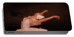 Ballet Dancer In White 01 Portable Battery Charger