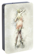 Portable Battery Charger featuring the digital art Ballet Dancer by Shanina Conway