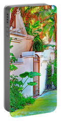 Portable Battery Charger featuring the photograph Ballona Lagoon Gate by Chuck Staley
