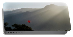 Balloon At Sunrise Portable Battery Charger