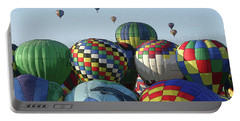 Portable Battery Charger featuring the photograph Balloon Traffic Jam by Marie Leslie