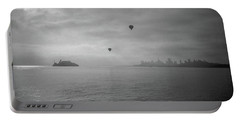 Portable Battery Charger featuring the photograph Balloons Over San Francisco Bay by Frank DiMarco