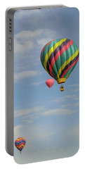Portable Battery Charger featuring the photograph Balloons Over The Desert by Allen Sheffield