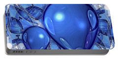 Portable Battery Charger featuring the digital art Balloons by Ron Bissett
