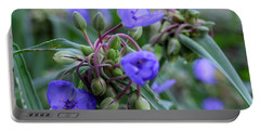 Portable Battery Charger featuring the photograph Balmy Blue by Michiale Schneider