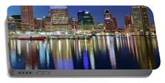 Baltimore Blue Hour Portable Battery Charger by Frozen in Time Fine Art Photography