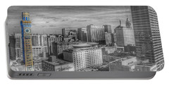 Portable Battery Charger featuring the photograph Baltimore Landscape - Bromo Seltzer Arts Tower by Marianna Mills