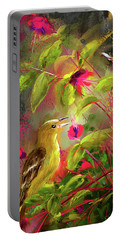 Baltimore Oriole Art- Baltimore Female Oriole Art Portable Battery Charger