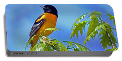Portable Battery Charger featuring the photograph Baltimore Oriole In An Oak Tree by Rodney Campbell