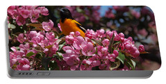 Baltimore Oriole Portable Battery Charger by Susan Dimitrakopoulos