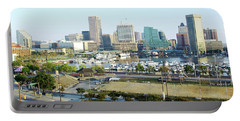 Portable Battery Charger featuring the photograph Baltimore's Inner Harbor by Brian Wallace