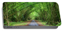 Portable Battery Charger featuring the photograph Bamboo Cathedral Trinidad by Rachel Lee Young