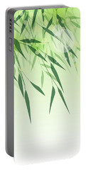 Bamboo Green Leaf Portable Battery Charger