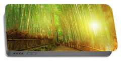 Bamboo Grove Arashiyama Kyoto Portable Battery Charger