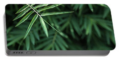 Bamboo Leaves Background Portable Battery Charger