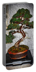 Portable Battery Charger featuring the painting Bamboo Tree by Joan Reese