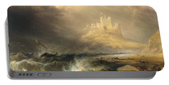 Bamborough Castle Portable Battery Charger by Willliam Andrews Nesfield