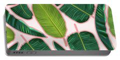 Banana Leaf Blush Portable Battery Charger