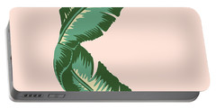 Banana Leaf Square Print Portable Battery Charger