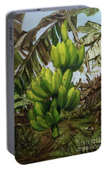 Portable Battery Charger featuring the painting Banana Tree by Chonkhet Phanwichien
