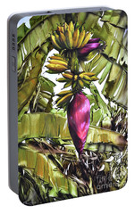 Portable Battery Charger featuring the painting Banana Tree No.2 by Chonkhet Phanwichien
