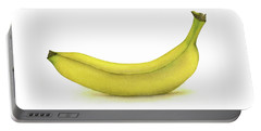 Banana Watercolor Portable Battery Charger by Taylan Apukovska