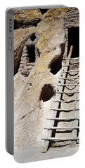 Portable Battery Charger featuring the photograph Bandelier Desert Ladder by Andrea Hazel Ihlefeld