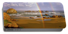 Bandon Beach Rainbow Sunrise Portable Battery Charger