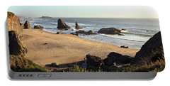 Bandon Beachfront Portable Battery Charger by Athena Mckinzie