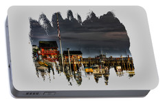 Portable Battery Charger featuring the photograph Bandon Boat Basin At Dawn by Thom Zehrfeld