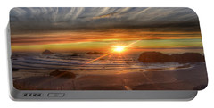 Portable Battery Charger featuring the photograph Bandon Sunset by Bonnie Bruno