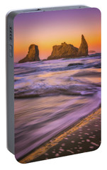 Portable Battery Charger featuring the photograph Bandon's Breath by Darren White