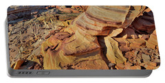 Bands Of Colorful Sandstone In Valley Of Fire Portable Battery Charger