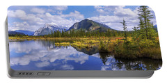 Portable Battery Charger featuring the photograph Banff Reflection by Chad Dutson