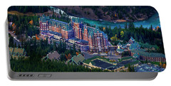 Portable Battery Charger featuring the photograph Banff Springs Hotel by John Poon
