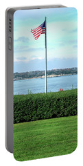 Banner Of Freedom Portable Battery Charger by Lon Casler Bixby