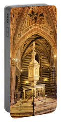 Portable Battery Charger featuring the photograph Baptistery Siena Italy by Joan Carroll