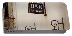 Portable Battery Charger featuring the photograph Bar Firenze by Valerie Reeves