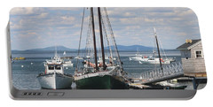 Bar Harbor Waterfront And Boats Portable Battery Charger by Living Color Photography Lorraine Lynch