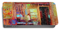 Bar Puccini Lucca Italy Portable Battery Charger by Wally Hampton