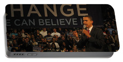 Barack Obama Campaigning Portable Battery Charger