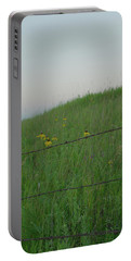 Barb Wire Prairie Portable Battery Charger