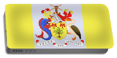 Portable Battery Charger featuring the drawing Barbados Coat Of Arms by Movie Poster Prints