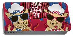 Barbecue Pigs Portable Battery Charger