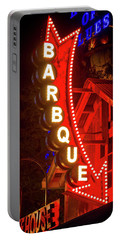 Portable Battery Charger featuring the photograph Barbeque Smokehouse by Mark Andrew Thomas