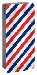 Barber Stripes Portable Battery Charger