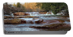 Barbershop Falls Wv In Winter Portable Battery Charger