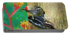Barbet Nestlings Portable Battery Charger by Judy Kay